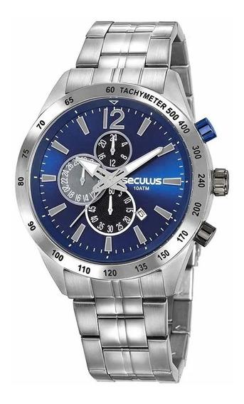 Relógio Masculino Prata Seculus Cronógrafo 20767g0svna1