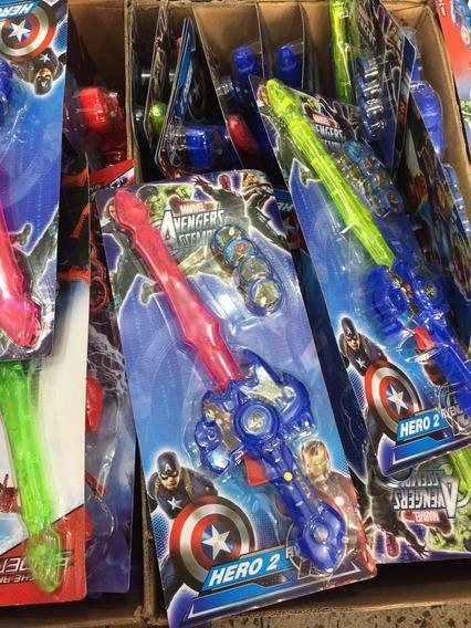 Espadas Spiderman Capitán América 35cm Vengadores Lanza Tazo