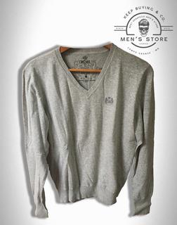 Suéter Cardigan Tricot Lã Cinza Diesel