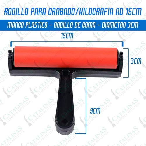 Rodillo Para Grabado Xilografía 15cm Ad Microcentro