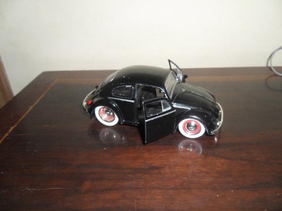 Miniatura Fusca Beetle 1959 Pneus Banda Branca Jada Toys1/32