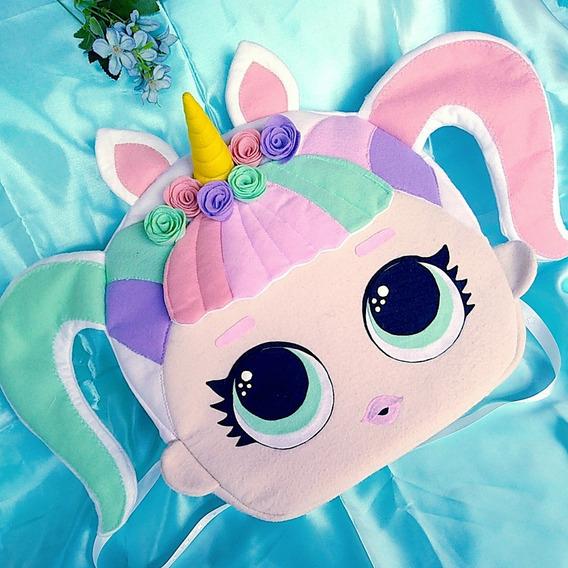 Mochila Personalizada Lol Surpresa Unicornio