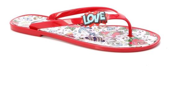 Rasteira Love Vermelha - R5338530004