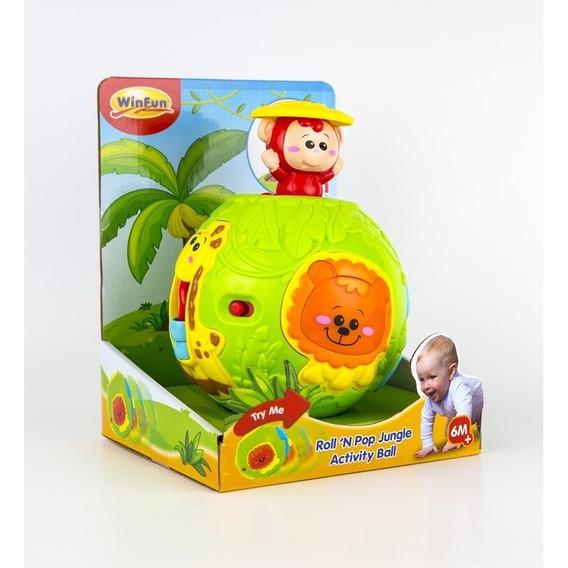 Brinquedo Winfun Bola De Atividade Amiguinhos Selva Yestoys
