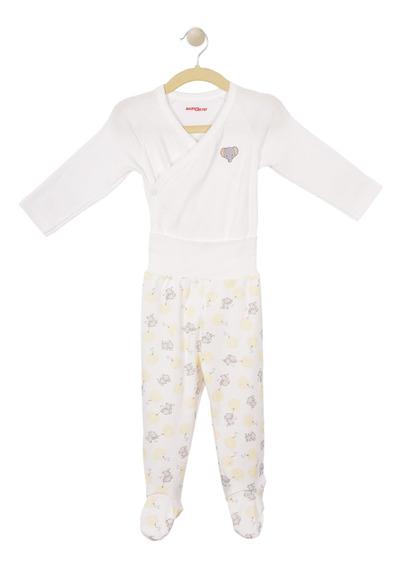 Set 2 Pzas, Pañalero Y Pantalón Baby Creysi Hueso Ui1005