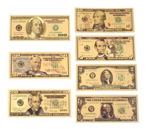 Billetes Conmemorativos Dorados Colección Dólares