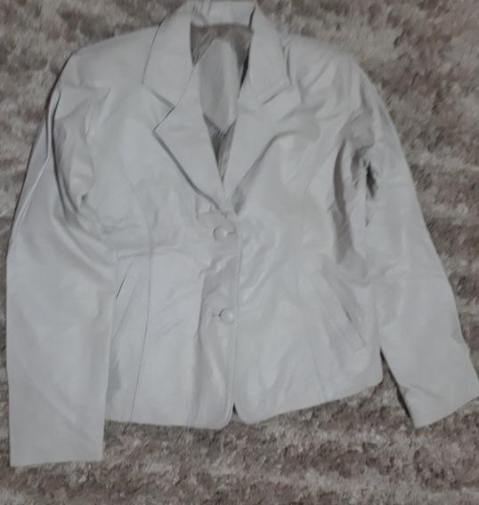 Blusa/jaqueta Couro Legítimo Feminina Bufalo