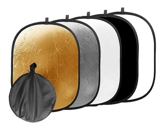 Rebatedor E Difusor Circular 5x1 Para Estúdio - 110x150cm