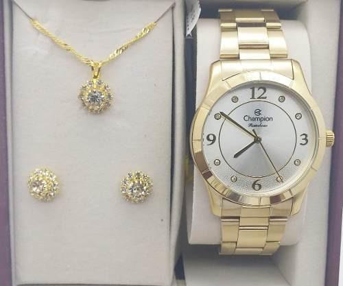 Relógio Dourado Champion Original Prova D