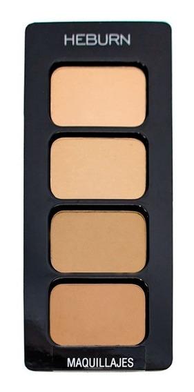 Heburn Paleta Maquillaje Profesional Polvo Compacto Cod. 943