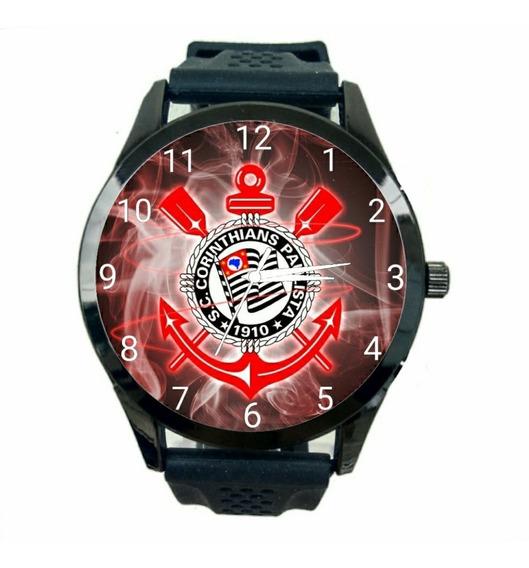 Relogio Personalizado Corinthians Masculino De Pulso Futebol Club Novo Escudo Time Jogo Esportivo T3