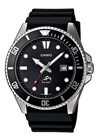 Casio Mdv-106-1avcf Reloj Análogo Para Hombre, Negro
