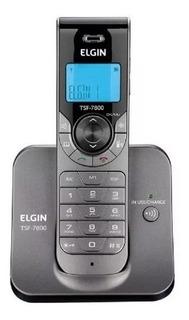 Telefone Sem Fio Tsf7800 Elgin Com Identificador De Chamada