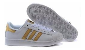 Tenis adidas Superstar Concha Dorado Clasico (liquidacion)
