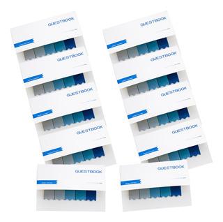 10 Pcs Notas Adhesivas Utilizadas Simple Papelería De