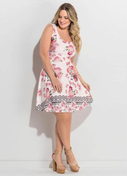 Roupas Plus Size Femininas Vestido Floral Tamanhos Grandes