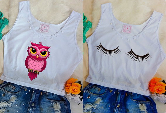 Camiseta Camisa Blusa Baby Look Feminina Atacado Promoção