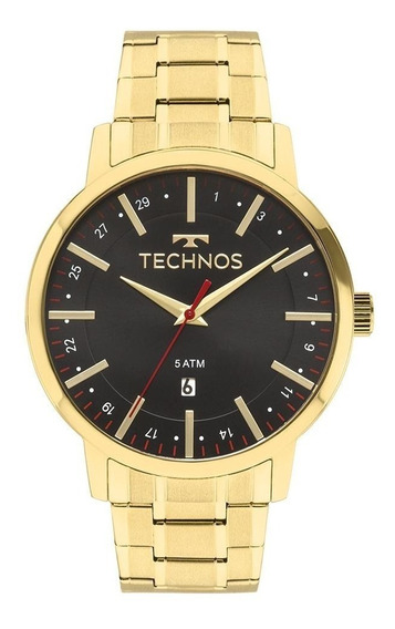 Relógio Technos Dourado Steel Masculino 2115mmk/4p