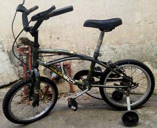 Bicicleta Rodado 14 Con Ruedas Apoyo Muy Buen Estado