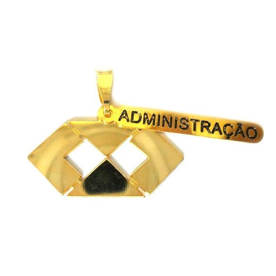 Pingente Profissão Faculdade Administração Folheado Ouro 18k