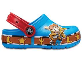 Zapato Crocs Niñofun Lab Woody Clog Con Luces