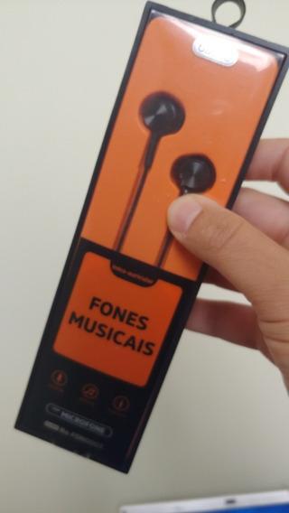 Fone Original Basike Som Em Hd Extra Bass