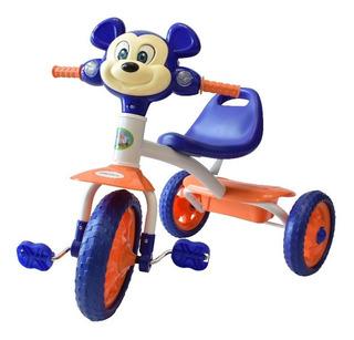 Triciclo Montable Musical Con Canasta Trasera Para Niño