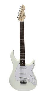 Guitarra Electrica Blanca Con Trémolo Raptor Sss-gw