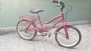 Bicicleta Playera Niña. Rodado 16