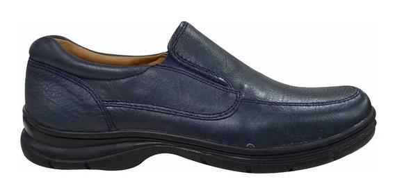 Zapato Elasticos Laterales Cuero Hombre Base Goma Febo