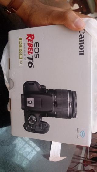 Câmera Profissiona Dslr Canon Rebel T6