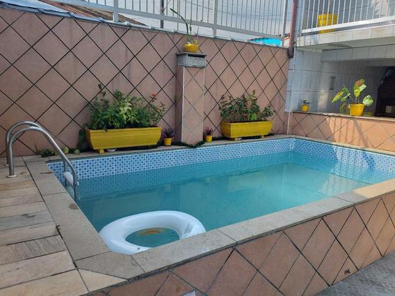 Casa 2 Qt+edicula, 4 Gar, Ampla Piscina,prox Praia $ 260.mil