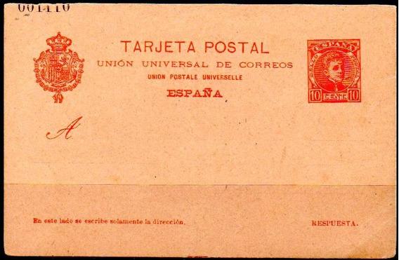 España 1901. Tarjeta E P De 10c Alfonso Xiii Cadete, Nueva
