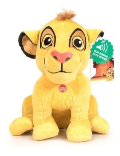 Imagen 1 de 4 de Peluche Simba Con Sonido - El Rey Leon 30cm E.full