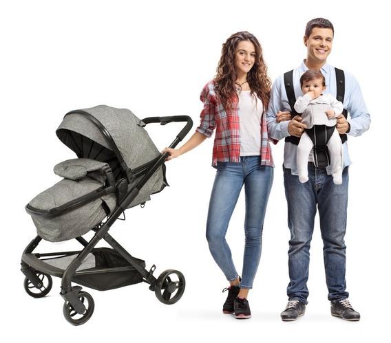 Carrinho De Bebê Berço Com Moises Removível Infantil Mc4895