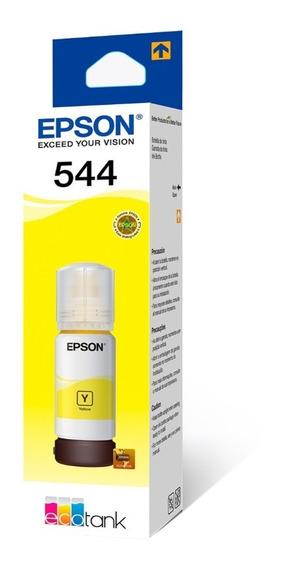 Refil De Tinta Original Epson 544 Para L3110 E L3150 Amarelo