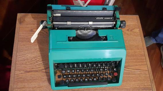 Maquina De Escribir Portatil Olivetti Estudio 45