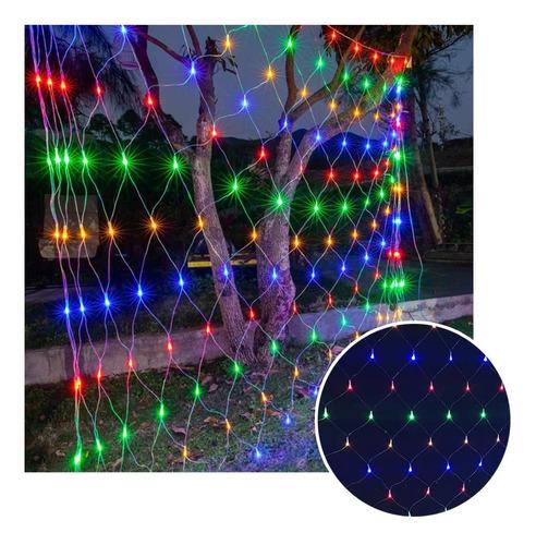 Luces Malla Led 200 Luces 2x1 Metros Luz Navidad Rf 200tc
