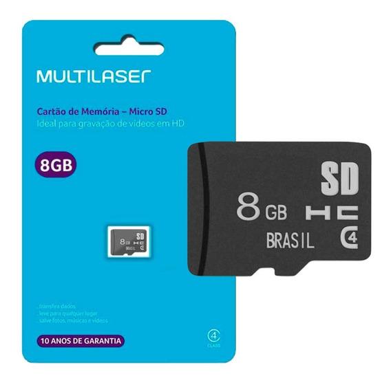 Kit 100 Cartões De Memória 8gb Micro Sd Multilaser Atacado