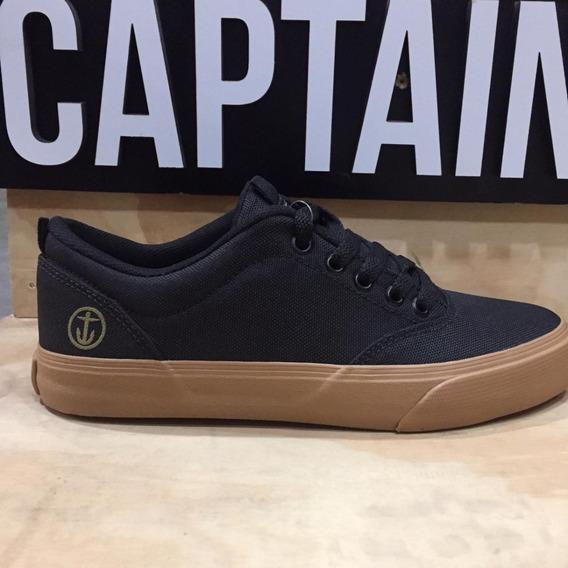 Zapatillas Captain Fin Montecarlo Black/caramel