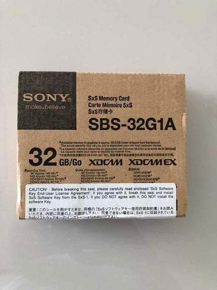 Cartão De Memória Sxs-1 Sony 32gb (sbs-32g1a) Na Caixa!