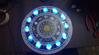 Reloj Saint Seiya C/luz Led! + Fuente+ Agujas+ Envio Gratis!