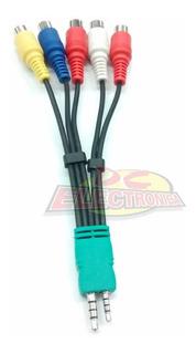 Cable Plug 3.5 + 2.5 /4 Contact A 5 Rca Rgb A/v Samsung