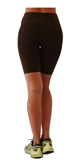 Bermuda Feminina Ciclista Cintura Alta Grossa Suplex Treino