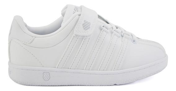 Zapato Escolar K-swiss Para Niño 5f143101 Blanco [ksw922]