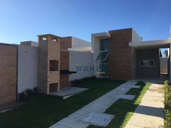 Casa Com 2 Dormitórios À Venda, 75 M² Por R$ 160.000,00 - Encantada - Eusébio/ce - Ca0632