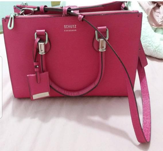 Bolsa Lorena Original Grande Em Couro Pink Original Schutz