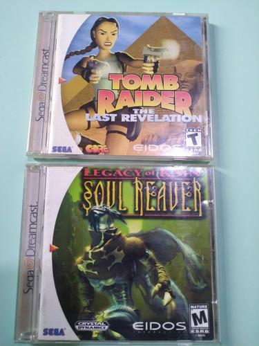 Imagem 1 de 5 de Games Dream Cast Tomb Rider E Soul Reaver Completos