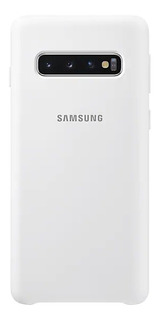 Capa Protetora Samsung Galaxy S10, Silicone Branca
