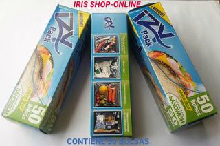 Bolsas Cierre Hermetico Ziploc Izy Pack 50 Unid.16.5 X 15.2